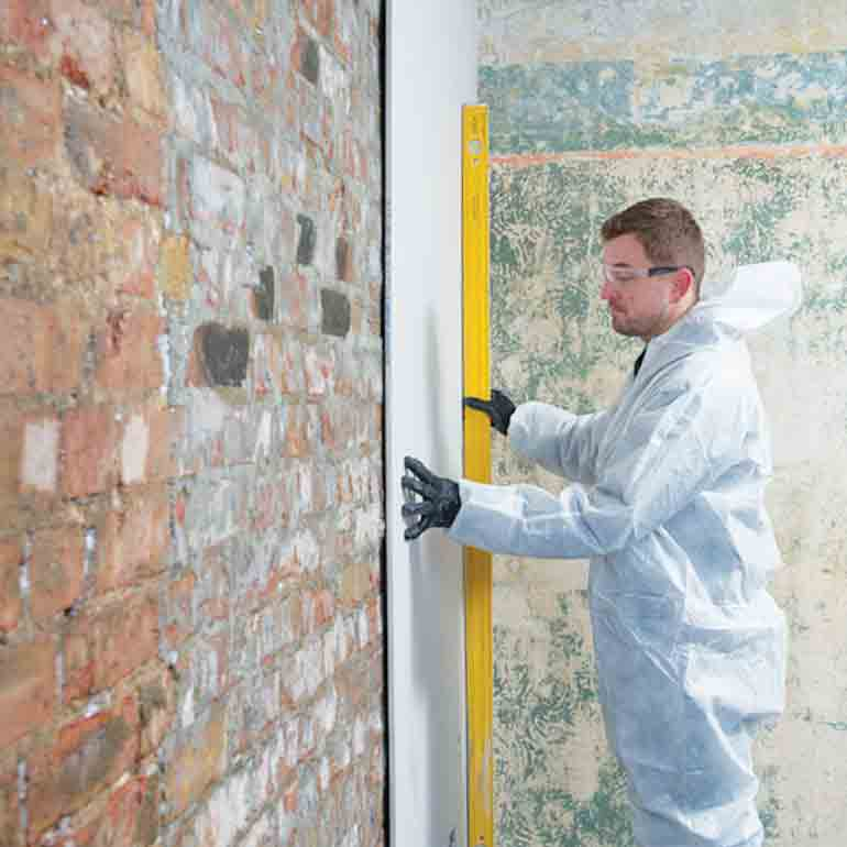 Fix plasterboard with Drygrip